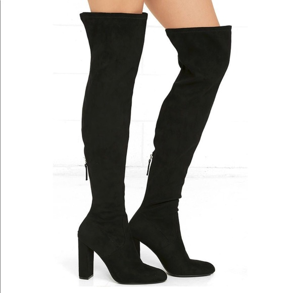 61a5db0720e Steve Madden emotions over the knee boots. M 5b8831b09e6b5bfff0779d6d